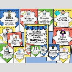 Reading Comprehension Skills Posters Bunting By Susanpowers09  Teaching Resources