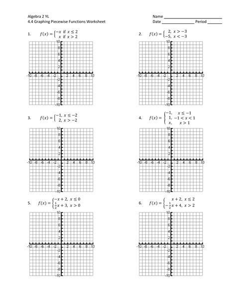New Worksheet Piecewise Functions Answers Goodsnyccom