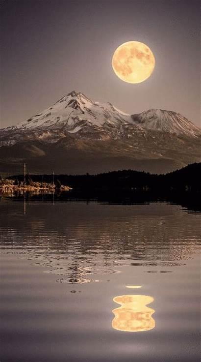 Moon Moonlight Mountain Beauty Water Shasta Luna