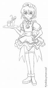 Waitress Lineart Princezna Deviantart Stats Groups sketch template