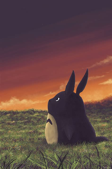 ao totoro art animation cute papersco