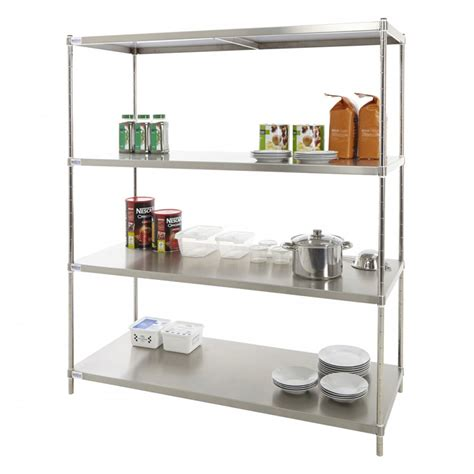 Stainless Steel Solid Kitchen Shelving  Rackingcom From