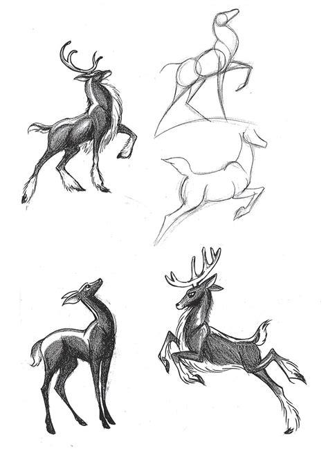 deer leaping pose   draw pinterest pose
