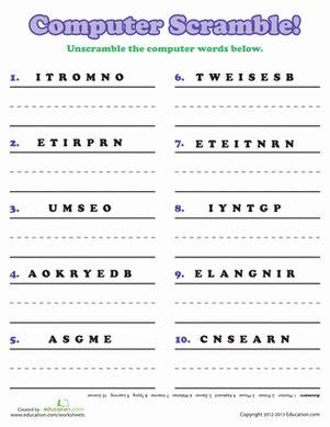 computer worksheets  grade   step  step worksheet