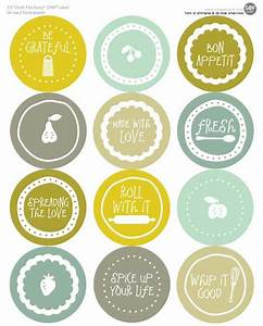 mason jar labels 100 free printable files to download With kitchen colors with white cabinets with avery circle stickers