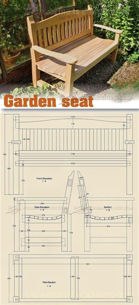 garden seat plans outdoor furniture plans  projects