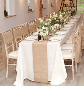 Indoor Long Wedding Dining Table With White Flower