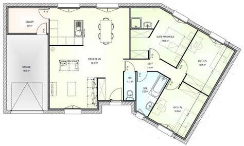 Plan De Maison Plain Pied 3 Chambres 120m2 Newsindoco
