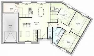 Maison 120m2 Plain Pied : plan de maison plain pied 3 chambres 120m2 newsindoco cosmeticuprise ~ Melissatoandfro.com Idées de Décoration