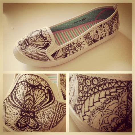 zentangle flats   paint  pair  painted shoes
