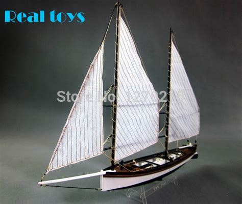 Sailboat Model Kit by Aliexpress Buy 1 24 Laser Cut Wooden Sailboat Model