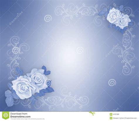 blue roses border wedding invitation stock illustration