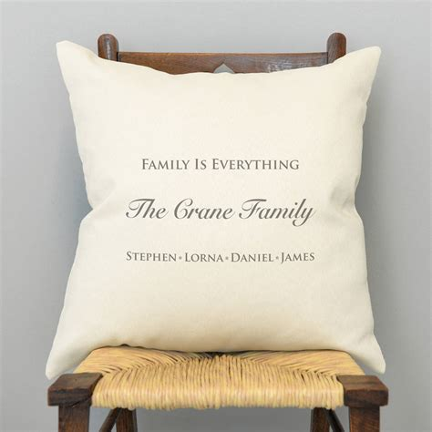 personalised cusion personalised family is everything cushion by a type of