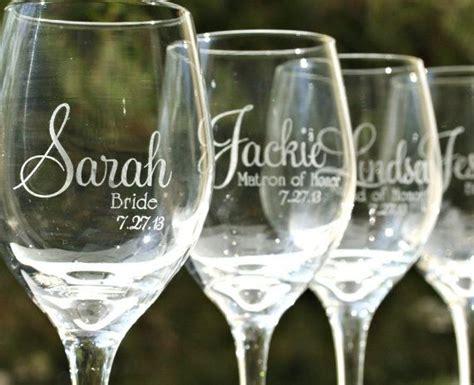 Etched Wedding Glasses #lf13