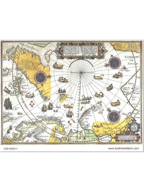 ancient map yellow theme wallpaper  fabric