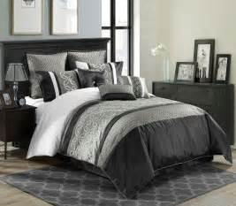 9 piece queen bordeaux black gray white comforter set