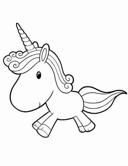 Kawaii Coloring Pages Unicorn