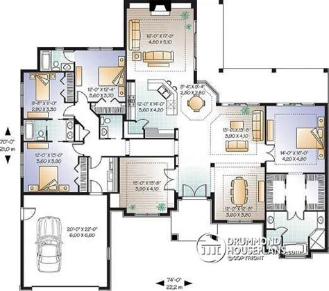 House Plans With Big Bedrooms House Plan W3254 Detail From Drummondhouseplans