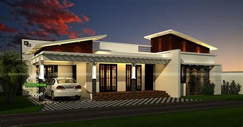 contemporary  single floor  sq ft kerala home