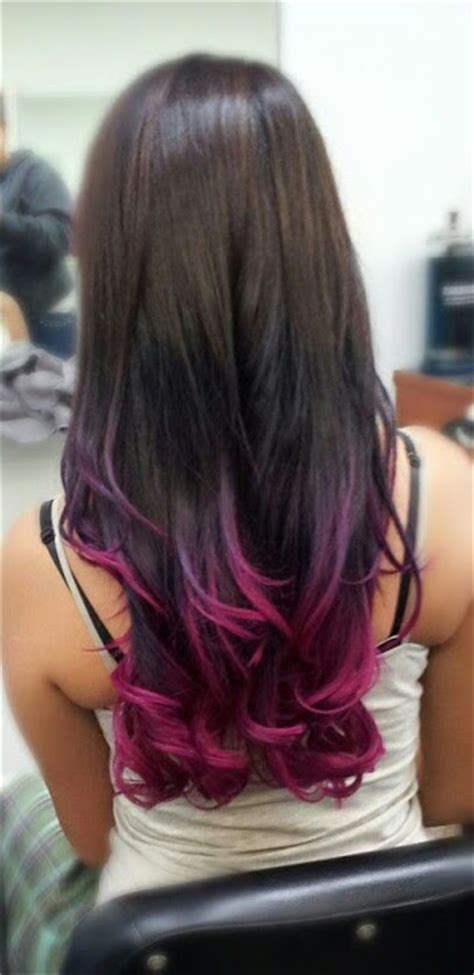 Tips For Brown Hair Color by Colorful Tips Dip Dyed Hair The Haircut Web