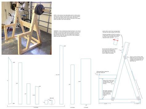 diy wooden squat rack   gym