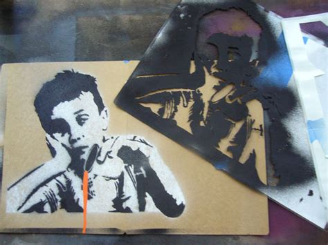 spray paint templates creating complex spraypaint stencils by