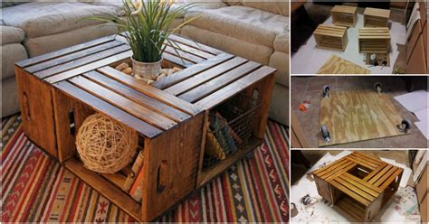 Each table we create is a unique piece of functional. How To DIY Coffee Table from Recycled Wine Crates