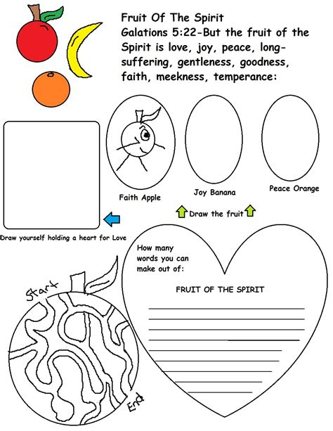 17 Best Images About Fruit Of The Spirit On Unique Fruit Of The Spirit Coloring Pages Design