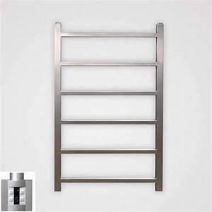 Seche Serviette Mural : s che serviettes lectrique inox 400w astor 80x50cm ~ Premium-room.com Idées de Décoration