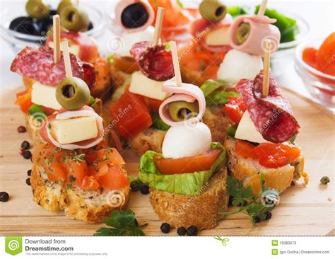 canapé cuisine canape with food ingredients stock image image of appetizer nobody 19383073