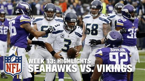 seahawks  vikings week  highlights nfl youtube