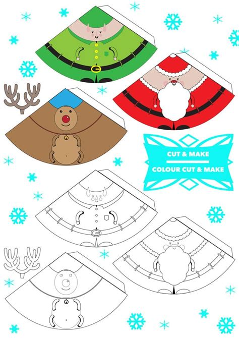 printable  christmas characters finger puppets