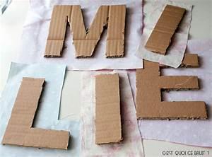Fabriquer Un Personnage En Carton : diy son pr nom en grandes lettres d cor es de tissu ~ Zukunftsfamilie.com Idées de Décoration