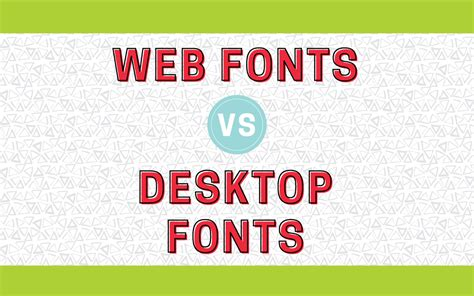 What's The Difference Between Desktop Fonts And Web Fonts