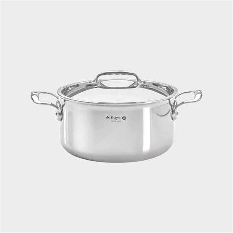 de buyer  affinity collection stainless steel stewpan  cast stainless steel handles