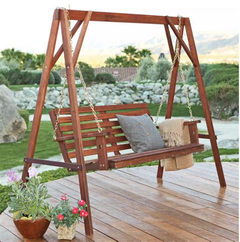 porch swings for 35 swingin backyard swing ideas