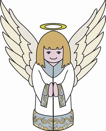 Angel Clipart Christmas Angle Religious Clip Flying