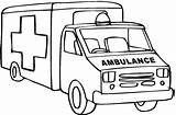 Ambulance Coloring Clipart Pages Printable Truck Outline Drawing Cartoon Fire Sketch Cliparts Sound Pickup Dodge Template Cars Trucks Lifted Webstockreview sketch template