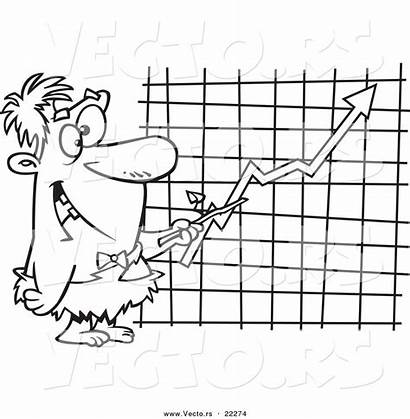 Chart Outline Cartoon Caveman Coloring Pointing Executive