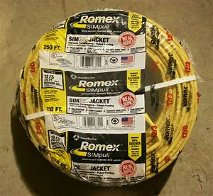 Essex  U0026 Sim Pull Romex 12  3 - Type Nm-b W  G 250ft