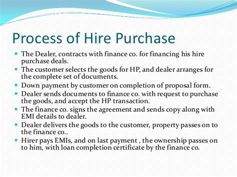 hire purchase sample