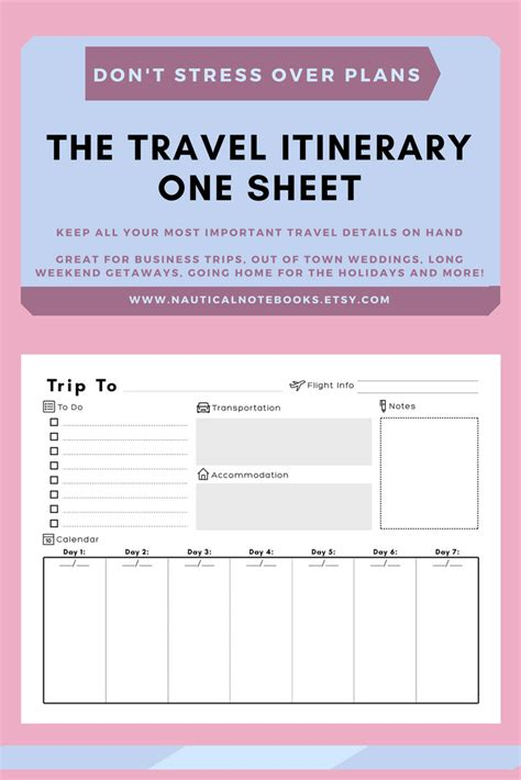 Travel Itinerary Templates by Travel Itinerary Template Family Travel Planner