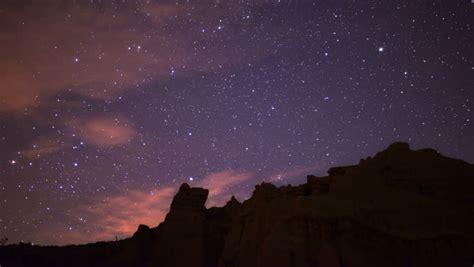Night Sky Time Lapse Stars Meteora Greece Stock Footage