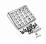 Waffle Waffles Drawing Illustraties Voedsel Getdrawings Illustration sketch template