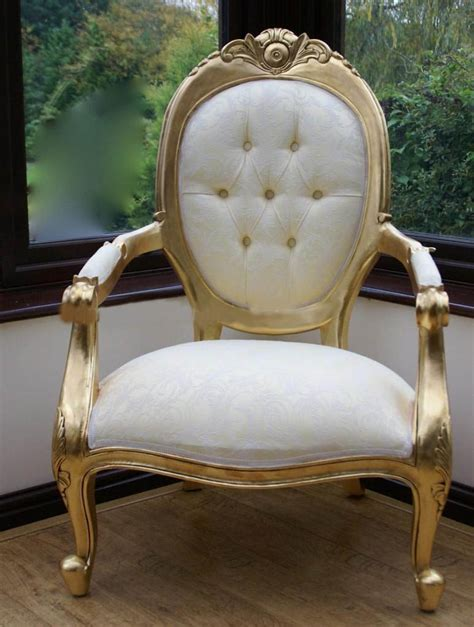cream gold throne chair  production