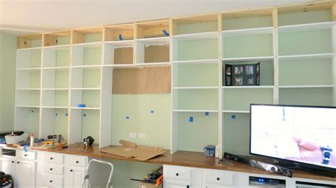 how to build a built in desk with drawers remodelaholic build a wall to wall built in desk and