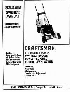 Craftsman 917372230 User Manual 22 Rotary Lawn Mower
