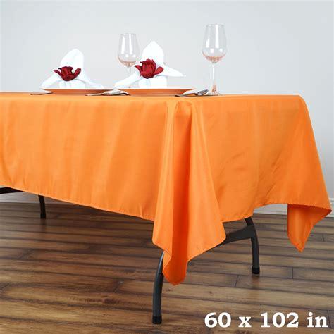 """10 Pcs 60"""" X 102"""" Polyester Rectangular Tablecloths"""