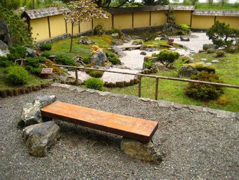 zen bench bench stones zen garden japanese garden