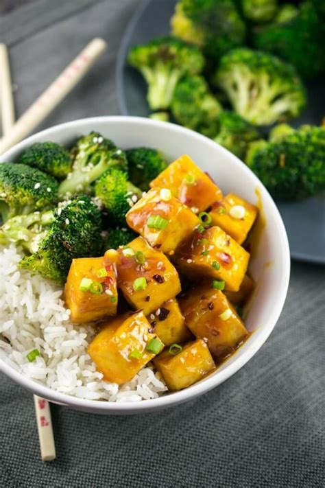 baked orange tofu recipe vegetarian and gluten free